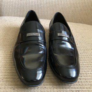Versace Men's Black Loafers Shoes .